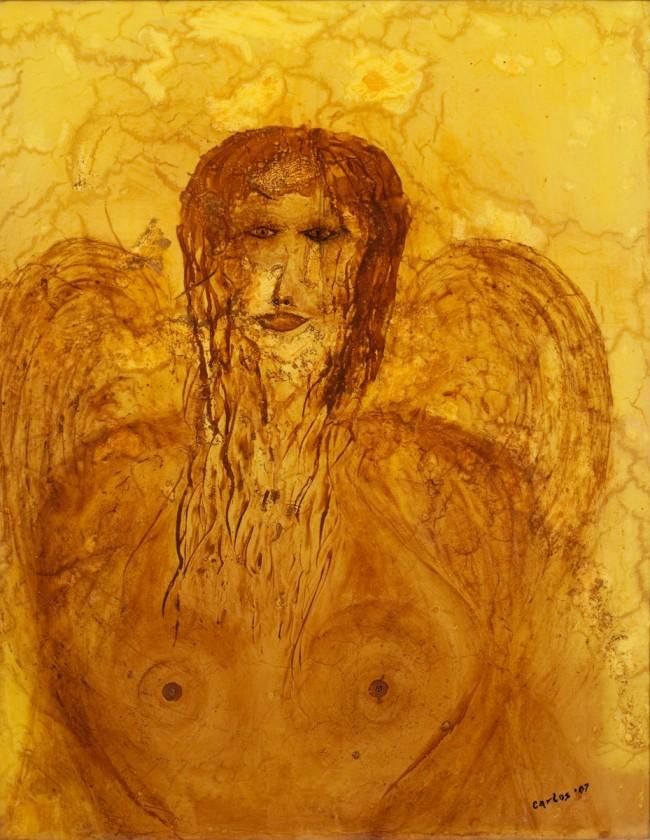 I saw an angel. Acrylic canvas on canvas 24