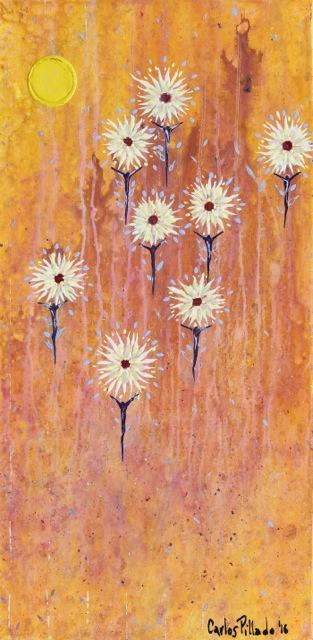 painting acrylic inner light flying men flowers 03