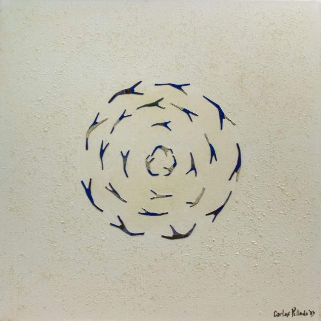 Harmonized existence Acrylic, canvas on canvas. 24x24