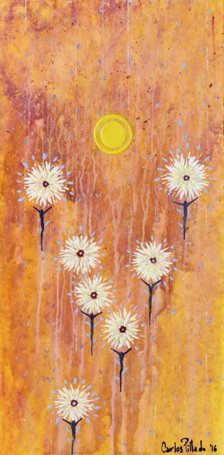 painting acrylic inner light flying men flowers 02